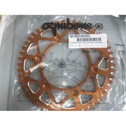 KTM CORONA ALLUMINIO ARANCIO ORANGE 49 DENTI CROSS ENDURO OGNIBENE