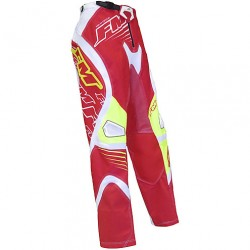 PANTALONI MOTO CROSS ENDURO FM RACING FORCE X24 ROSSO GIALLO FM RACING