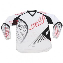 MAGLIA MOTO CROSS ENDURO X24 FORCE BIANCA FM RACING