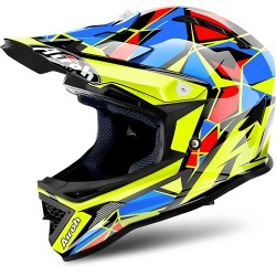 CASCO HELMET CROSS JUNIOR ARCHER CHIEF BLUE GLOSS AIROH