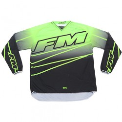 MAGLIA MOTO CROSS ENDURO X24 POWER VEDE NERO FM RACING