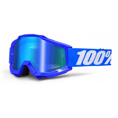 MASCHERA CROSS ACCURI BLU LENTE MIRROR BLU 100%