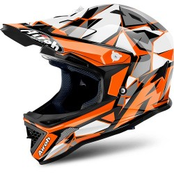 CASCO HELMET CROSS JUNIOR ARCHER CHIEF ORANGE GLOSS AIROH