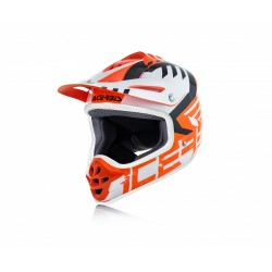 CASCO HELMET CROSS IMPACT JUNIOR 3.0 ARANCIO BIANCO ACERBIS